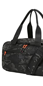 Vooray boost duffel overnight weekender waterproof shoe pocket organization compact bag carry-on
