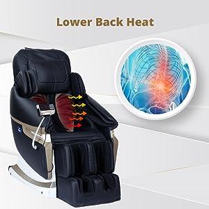 massage chair with heat