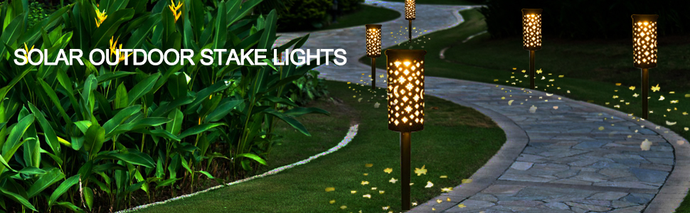 SOLAR OUTDOOR STAKE LIGHTS