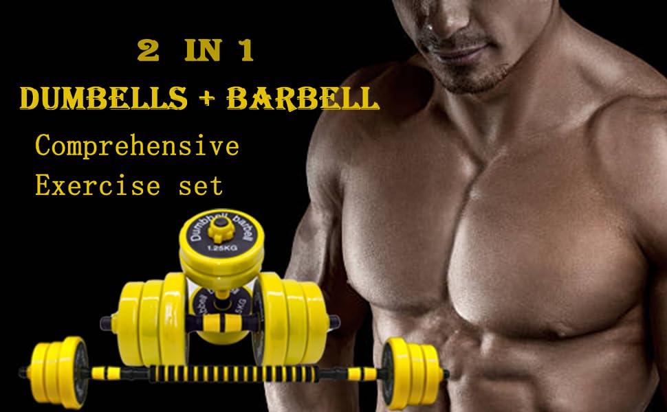Dumbbell Barbell Set 2 In 1