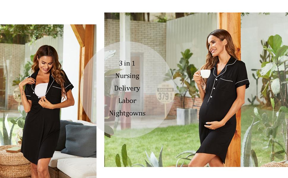 ekouaer maternity nursing gown for women