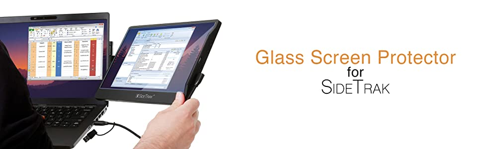 glass screen protector tempered scratch smudge print safe adhesive monitor sidetrak computer screen