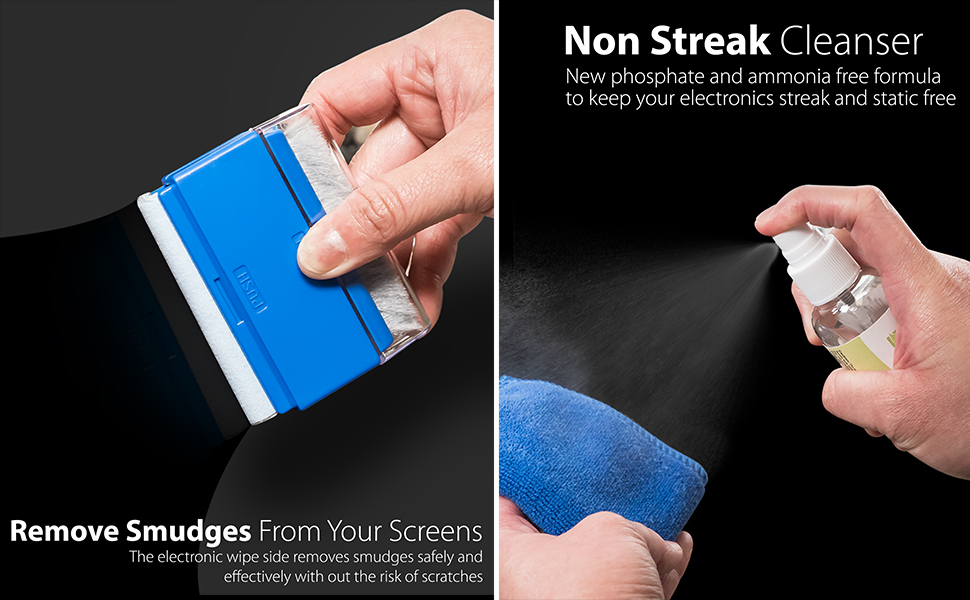 LCD Computer Screen Cleaner (Microfiber Cloth, Brush, Non-Streak Solution & Cleaning Wipes)