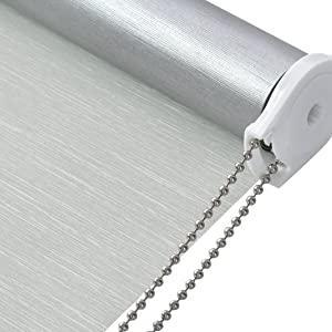 Thermal Insulated Fabric 100% Blackout UV Protection Striped Jacquard Roller Shades for Windows