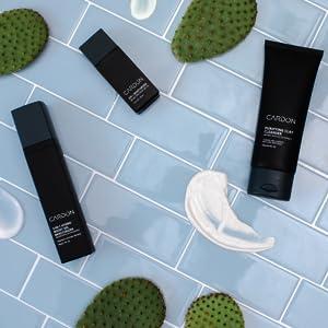 cactus based skincare for him korean mens grooming SPF clay cleanser moisturizer shaving irritation