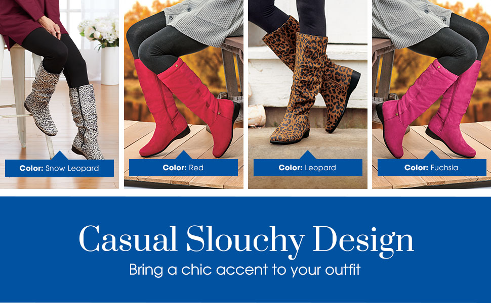 Casual Slouchy Design. Bring a chic accent to your outfit