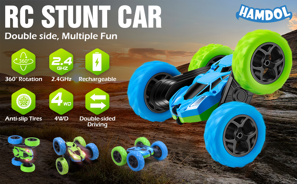 Remote Control Stunt Car for kids boys girls gifts