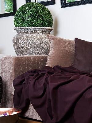 Ecksofa braun Samt Schimmer Sitzecke Garnitur Wohnecke Wohnlandschaft Stoff Sofa