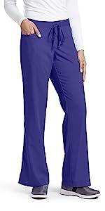 model wearing Women's Grey's Anatomy Drawstring Scrub Pant