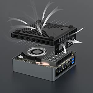 AMD Mini Windows 10 Desktop Computer 4K Small micro pc