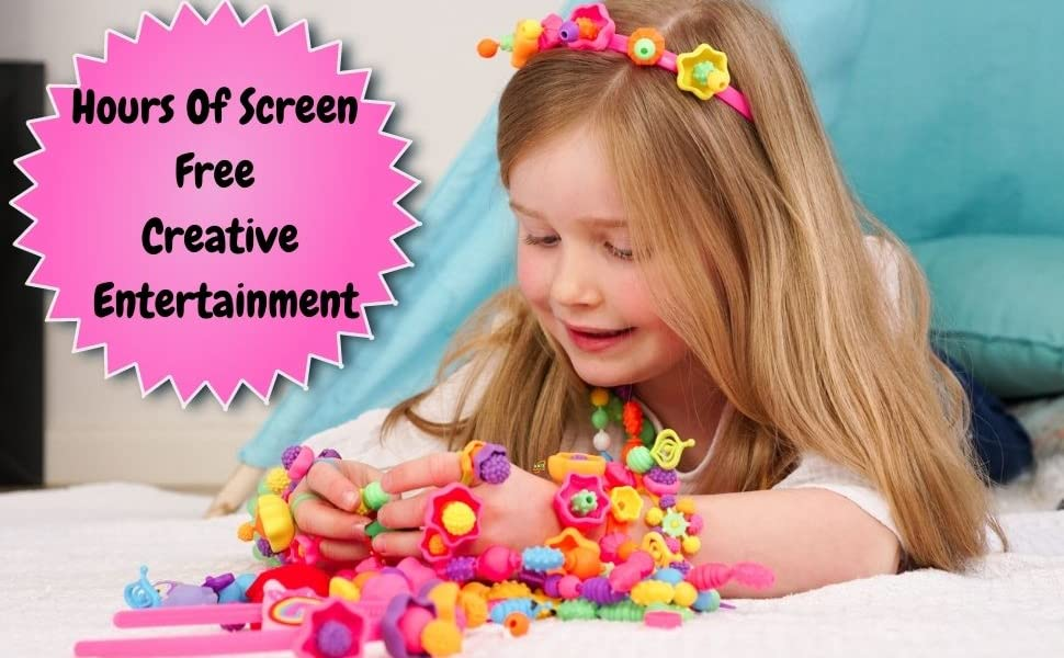 Kids Jewelry Making Kit, 5 year old girl gifts, 6 year old girl gift, Beading for kids,Girls jewelry