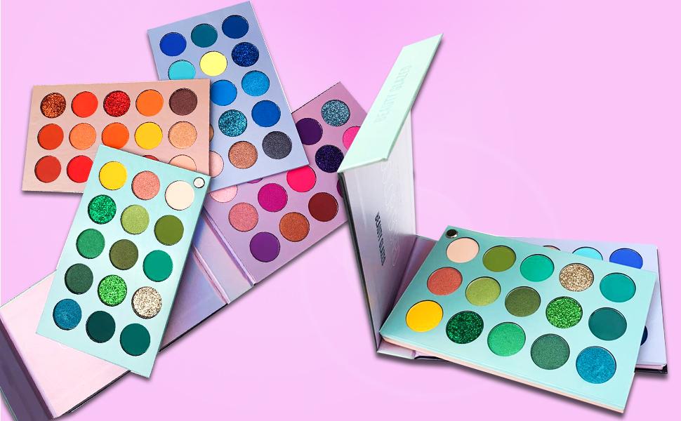 60 colors eyeshadow