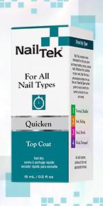 Nail Tek Quicken Fast-Drying Top Coat and Polish Dryer, 0.5 oz