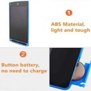 ABS Material : Light And Tough Button Battery: No Need To Charge