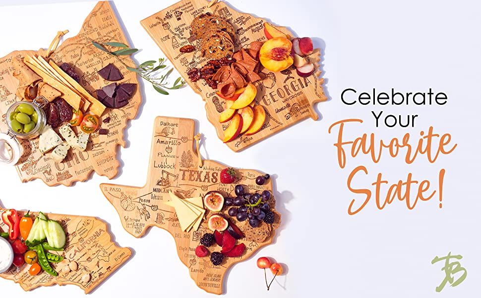 State shaped serving and cutting boards: celebrate your favorite state1