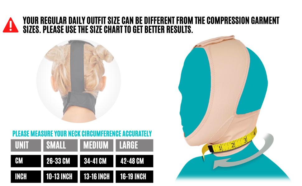 chin compression garment