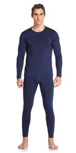 Thermal Underwear Set for Men Navy