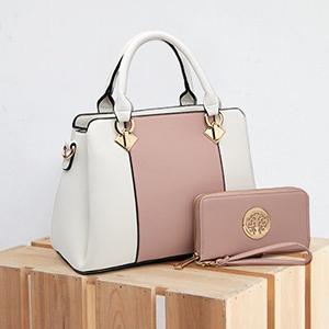 2019 fashion collision color single shoulder mother bag the large capacity 100 lap handbag #0107