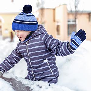 Sombreros de Caliente Punto para Niños y Niñas con Forro de Felpa Corta, Set de Bufanda