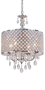 Modern Clear Crystal Chandelier Ceiling Fixture