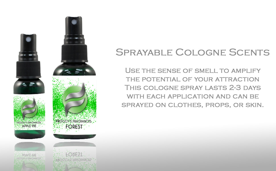 Froggy's fog, sprayable cologne, scents, smell, odor, pleasant, stinky, prank, halloween