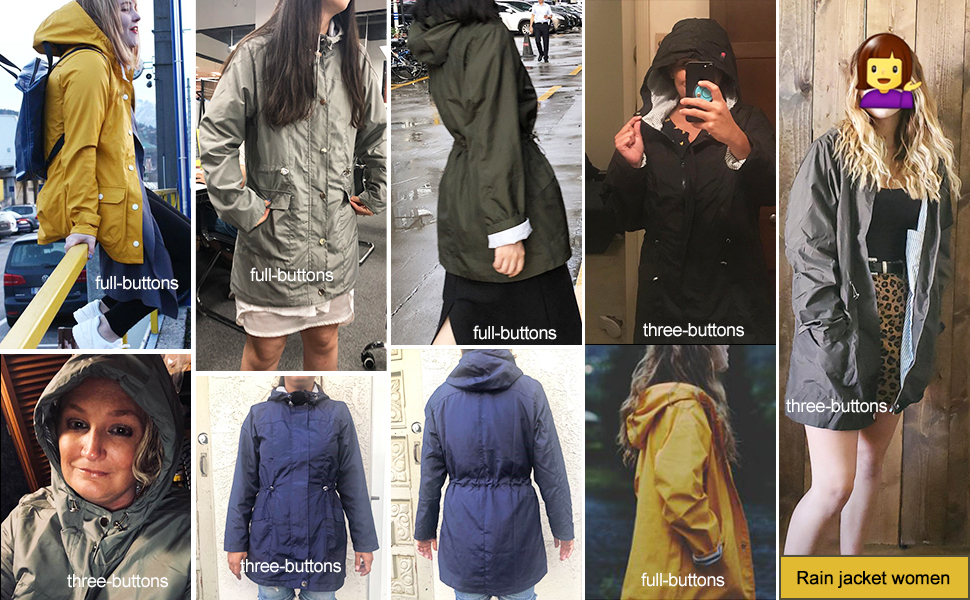 Casual Raincoat for Women