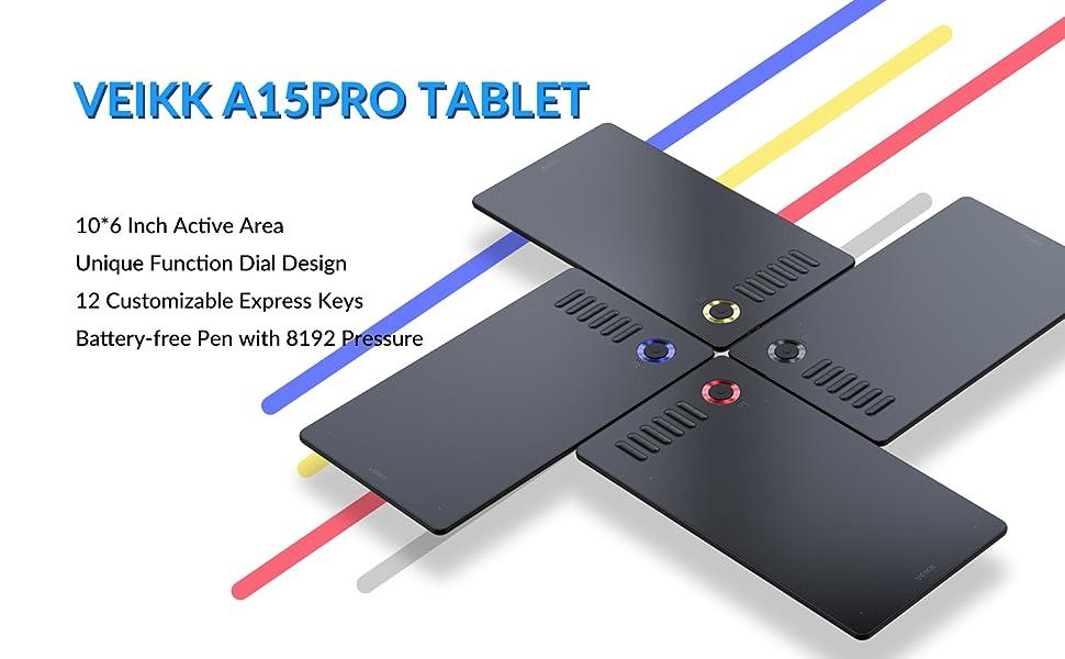 VEIKK A15 pro kalem tablet