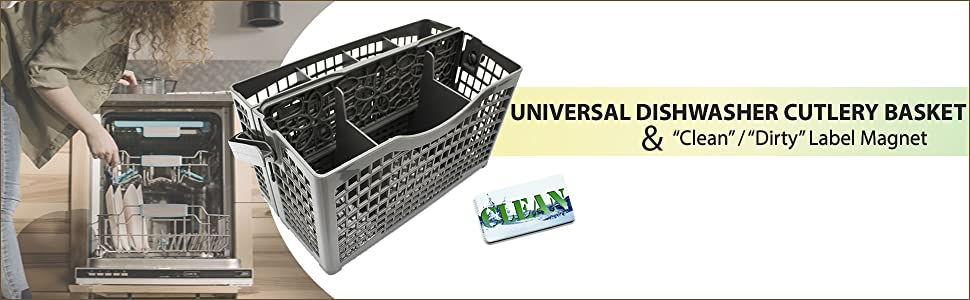 dishwasher basket with clean dirty dishwasher magnet for stainless steel
