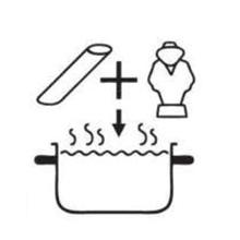 Step 1 put al dente boiling water