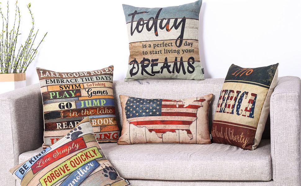 Trendin Lake House Decor Pillow Cover