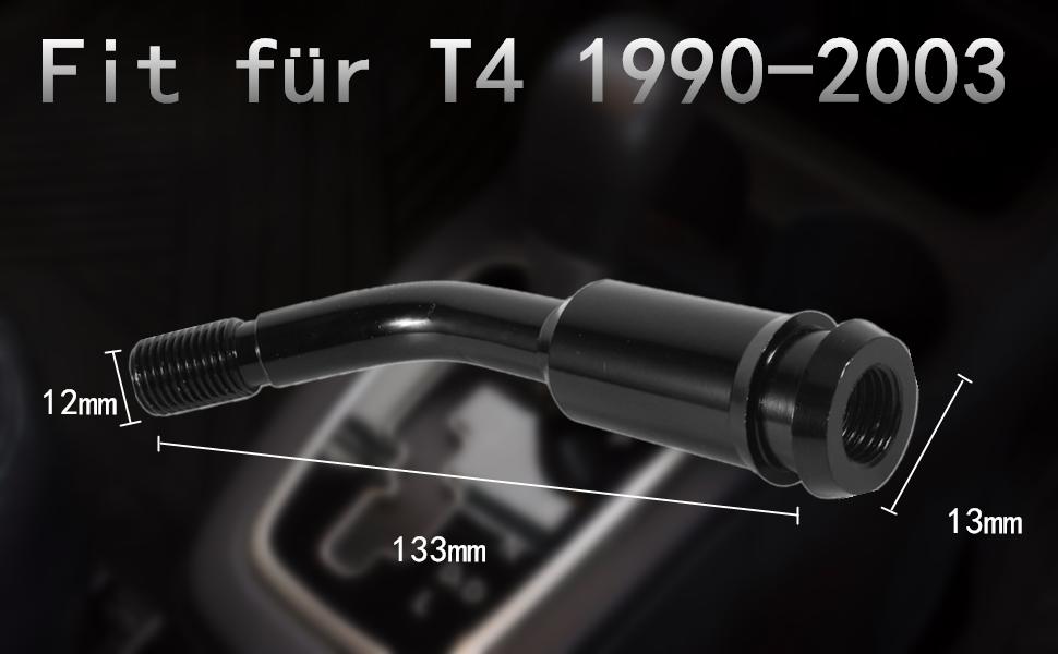 Schaltknauf Verlängerung Schaltknauf Extender 5 Zoll Schaltknaufverlängerung Für T4 1990 2003 Schwarz A Auto