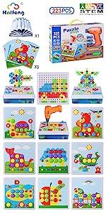 223 Pieces STEM Toy Drill Building Blocks Set