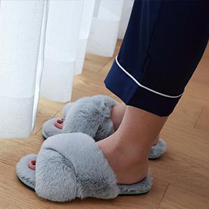 slippers women fuzzy fluffy slides