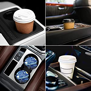 Absorbent Car Coasters for Cupholder