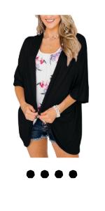 black kimono cardigan