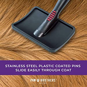 paw brothers stainless steel plastic coated pins