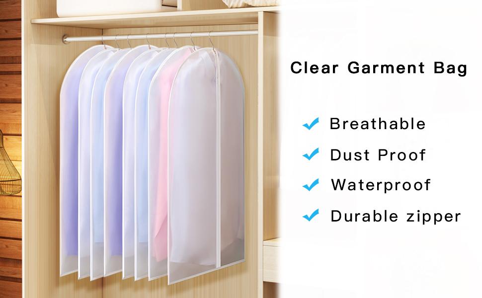 clear garment bags