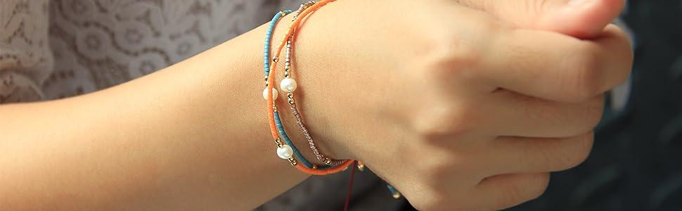 Miyuki Pearl Beads Bracelets for Womens and Girls