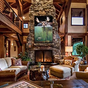 make way living room staging rustic decor fireplace luxury western