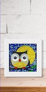Owl diamond painting