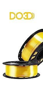 silk yellow pla filament