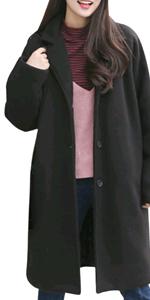 コート 秋冬 大きいサイズ 黒 フェイクウール ブラック クロ ウール おおきい サイズ 冬 カワイイ 可愛い ロング 厚手 通勤 防寒 厚手 冬用 大きい 冬服 通 学 レディース あったか