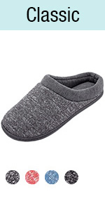 HomeTop Women's Comfy Memory Foam Slip On House Slippers Washable Indoor/Outdoor Shoes
