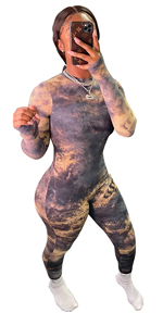 Tie Dye Outfit Long Sleeve Jumpsuits