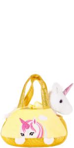 seitenansicht, brubaker, gelb einhorn, unicorn, yellow unicorn, kuscheltier