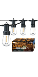 Banord 51ft x2 outdoor led string lights-heavy duty commercial string lights