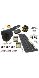 wild water fly fishing, 9/10 fly fishing package, 9 wt rod, 10 wt rod, CNC machined aluminum reel