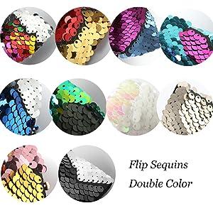 Flip sequins Double color