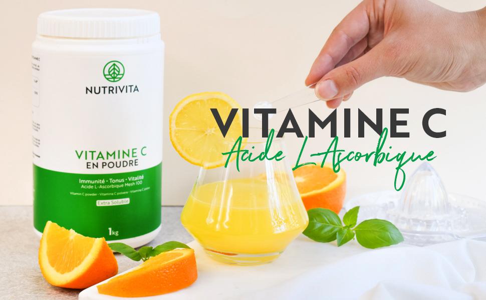 vitamine c en poudre acide l ascorbique pure acid mg bio naturelle nutrivita vitamin vitamines
