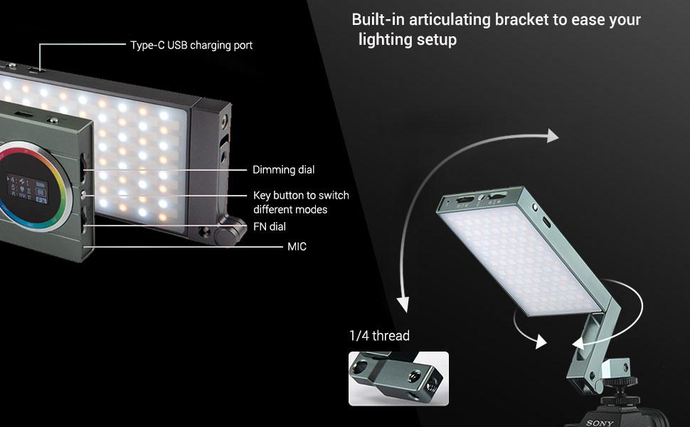 Godox M1 Rgb Led Videoleuchte Vollfarbige Videolichter Kamera